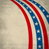 4th July, American Independence Day vintage background with national flag colors stripes. poster