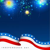 4th July, American Independence Day celebration background with fire crackers. poster