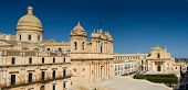 Historic Center of the baroque town Noto Sicily Italy poster