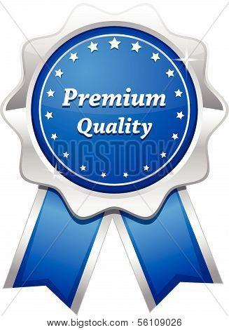 Premium Quality Silver Platinum Blue Seal