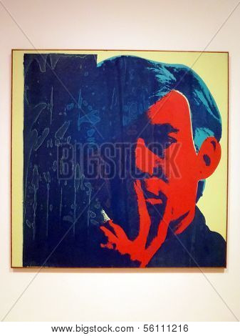 World Famous Artist Andy Warhol Self Portrait Painting
