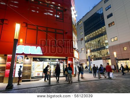 Tokyo - Nov 21: People Visit Akihabara Shopping Area On November 21, 2013 In Tokyo