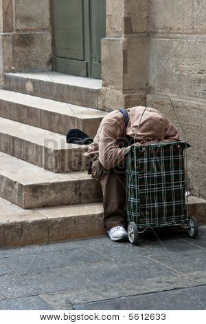 Man Homeless And In Despair
