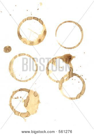 Coffee Rings And Splatter