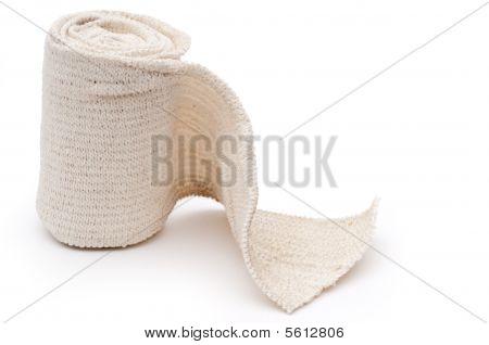Horizontal Image Of A Roll Of Medical Bandage