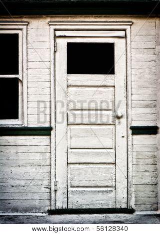 Antique White Door