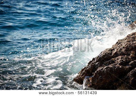 Croatia - beautiful Mediterranean coast , Murter island beach - Adriatic Sea.
