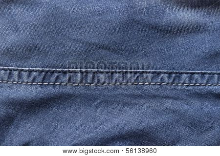 Seam on the jeans