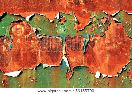 Abstract shriveled paint background