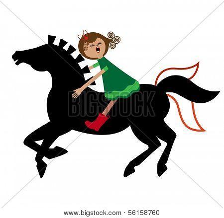 girl on pony bareback