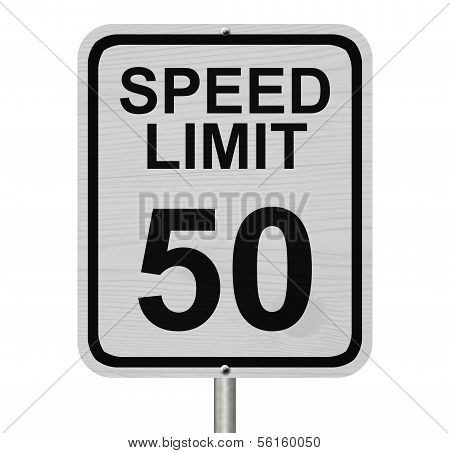 Speed Limit 50 Sign