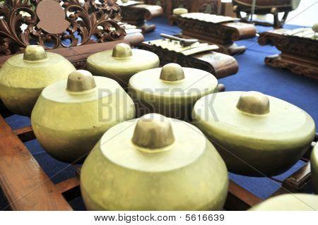 Gamelan Music Instrument Bonang