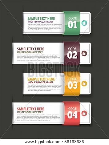 Set of Paper Tag Labels Exclusive template design