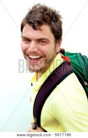 Young Man With A Knapsack