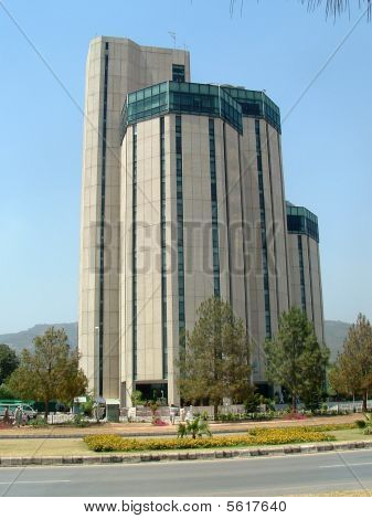 Tall Office Building in Islamabad Capital of Pakistan. poster