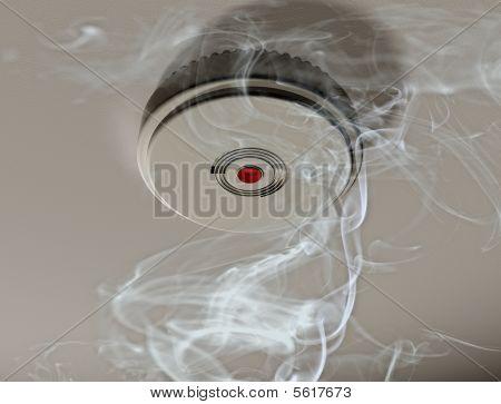 Smoke Alarm In A Smoky Room