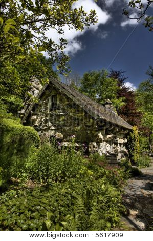 The Ugly House built in one night in the 15th century Capel Curig poster