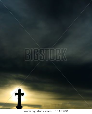 Silhouette Of A Cross