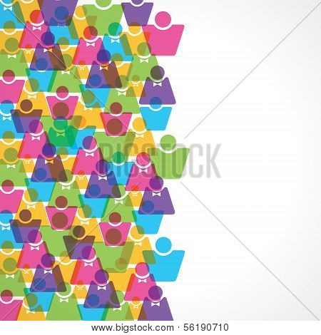 Colorful male and female background