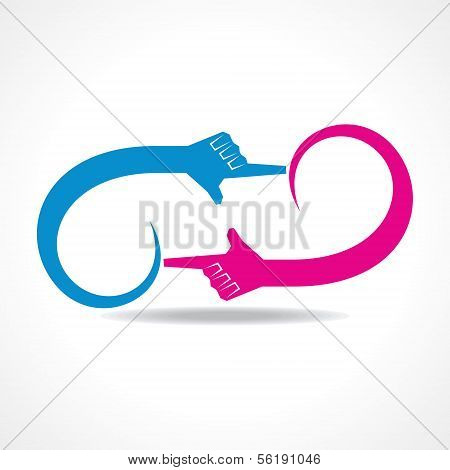 creative hand icon vector concept