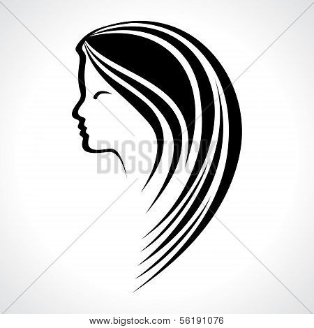 Beautiful fashion woman silhouette