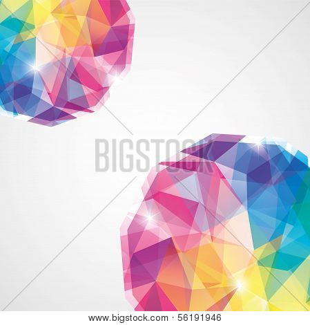 Vector Abstract Mosaic Background