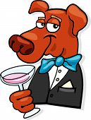 cartoon vector illustration of elegant dog icon poster