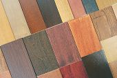 close up of the wood color and texture samples poster