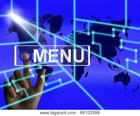 Menu Screen Refers To International Choices And Options