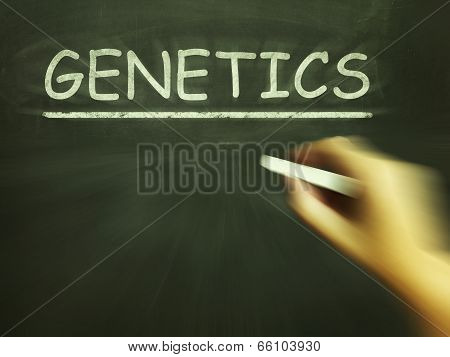 Genetics Chalk Means Genes Dna And Heredity