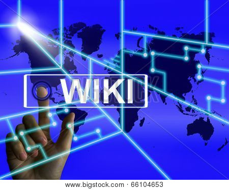 Wiki Screen Meaning Internet Information - blue background poster
