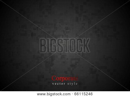 Hi-tech dark geometrical design. Vector background
