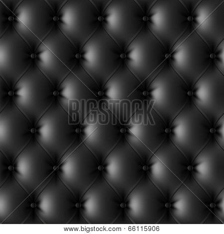 Black leather upholstery pattern. Vector.
