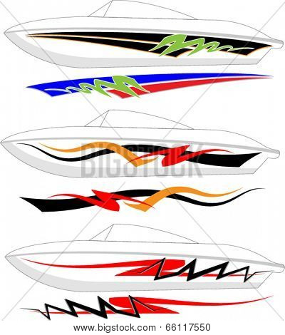 Boat Graphics, Stripe : Vinyl Ready