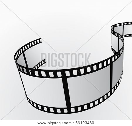 film reel moving abstract background 3d