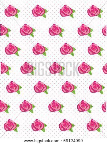 Rose-flower-polka-dot-background