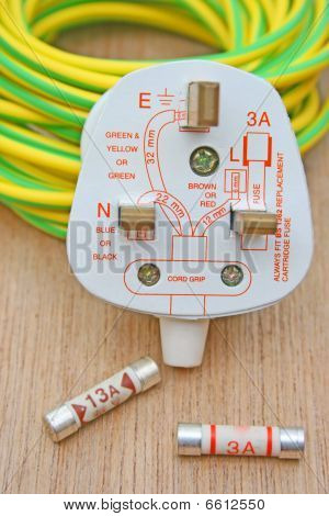 Plug,diagram and fuses.