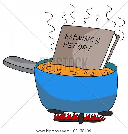 An image of cooking the books.