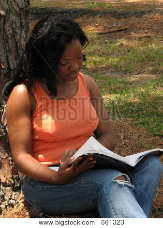 African American Female Studying