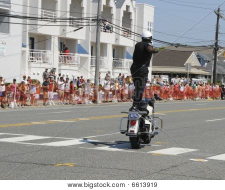 Margate September 5, 2009: Hero Thrill Show Standing On Motorcycle Again