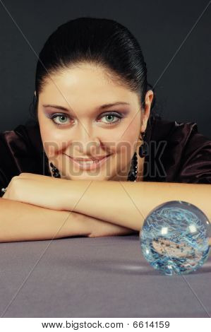 Beautiful Witch With Magic Sphere