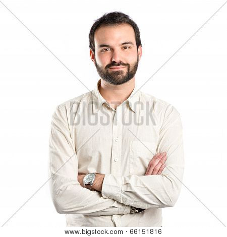 Man With His Arms Crossed Over Isolated Background
