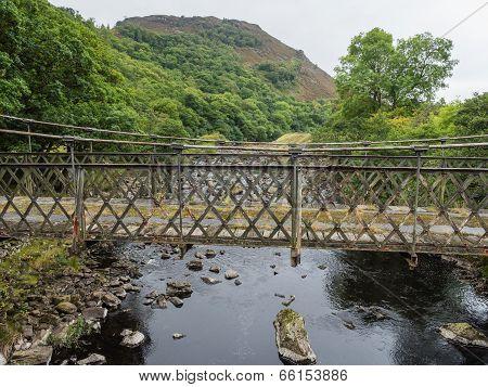 Metal bridge in Elan Valley, Wales