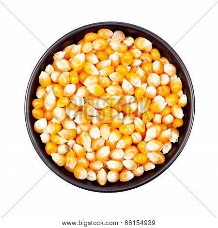 Dry Corn In Bowl