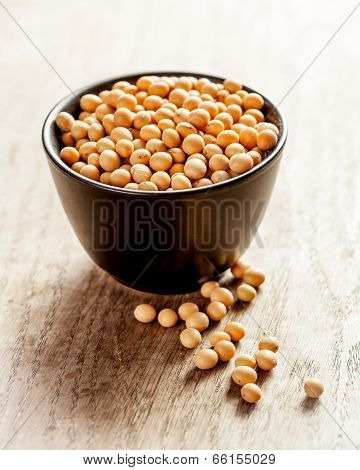 Soya Beans In A Bowl