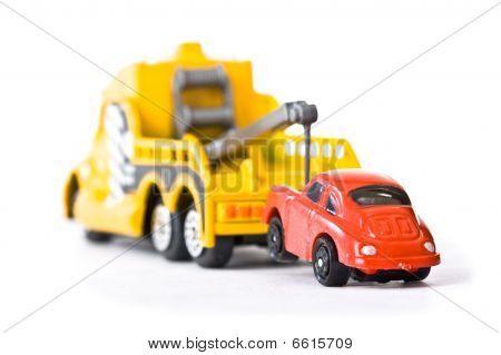 Car Behind Trowtruck