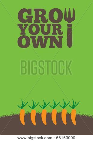 Grow Your Own Poster Carrots