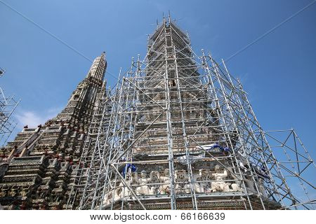 the pagoda architecture  under construction