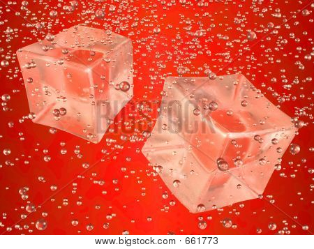 Ice Cubes Red