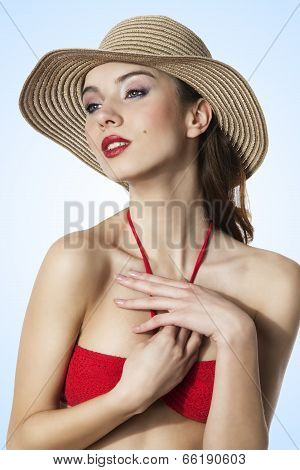 Summer Young Beautiful Woman